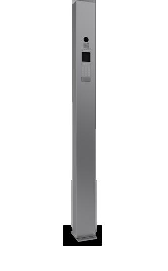 Torretta videocitofonica in acciaio da esterno