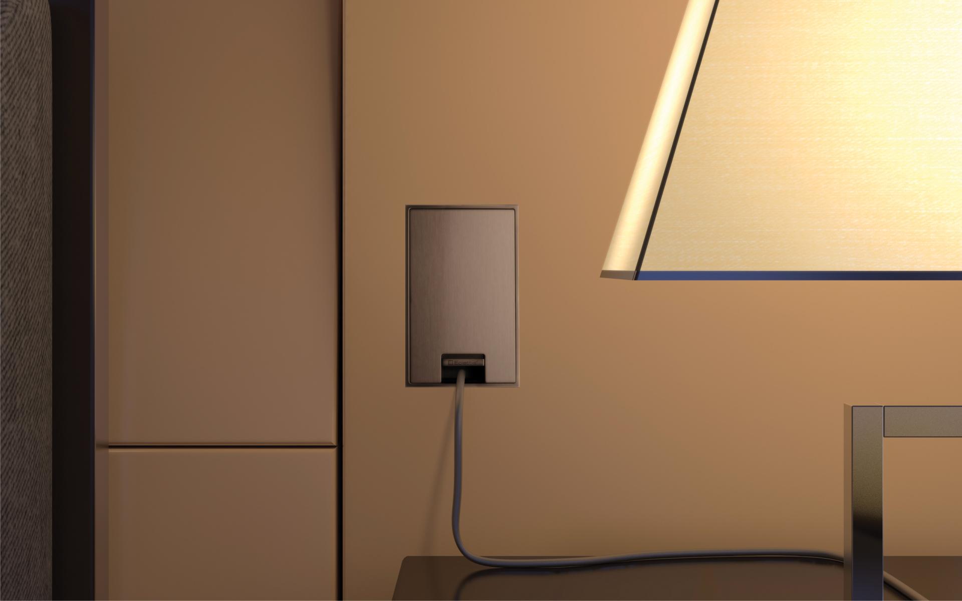 Smoothline-Presa-elettrica-con-portello-filo-muro-acciaio-inox