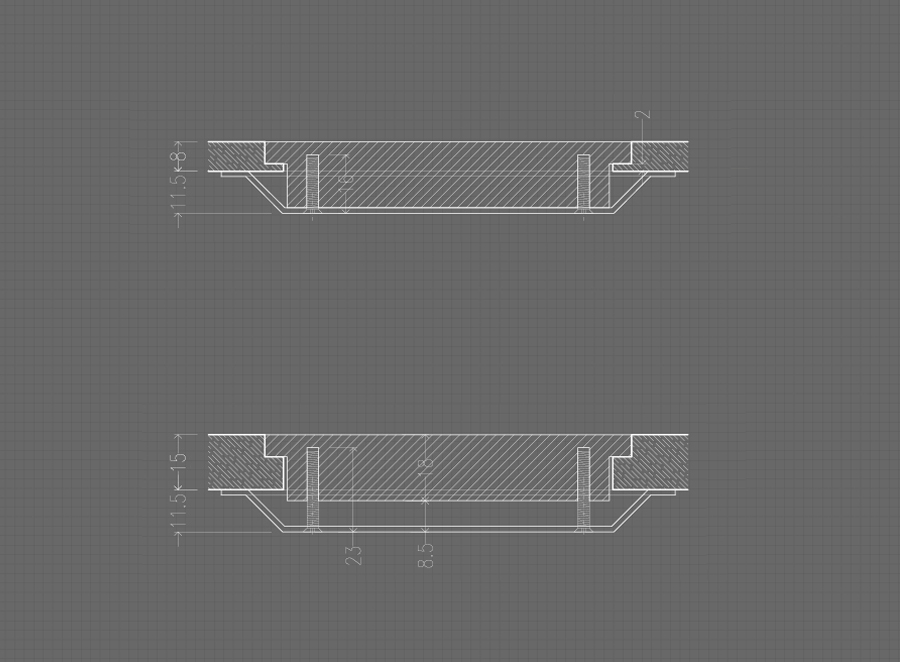 SOFTLINE - Flush tempered glass wireless charging system 5