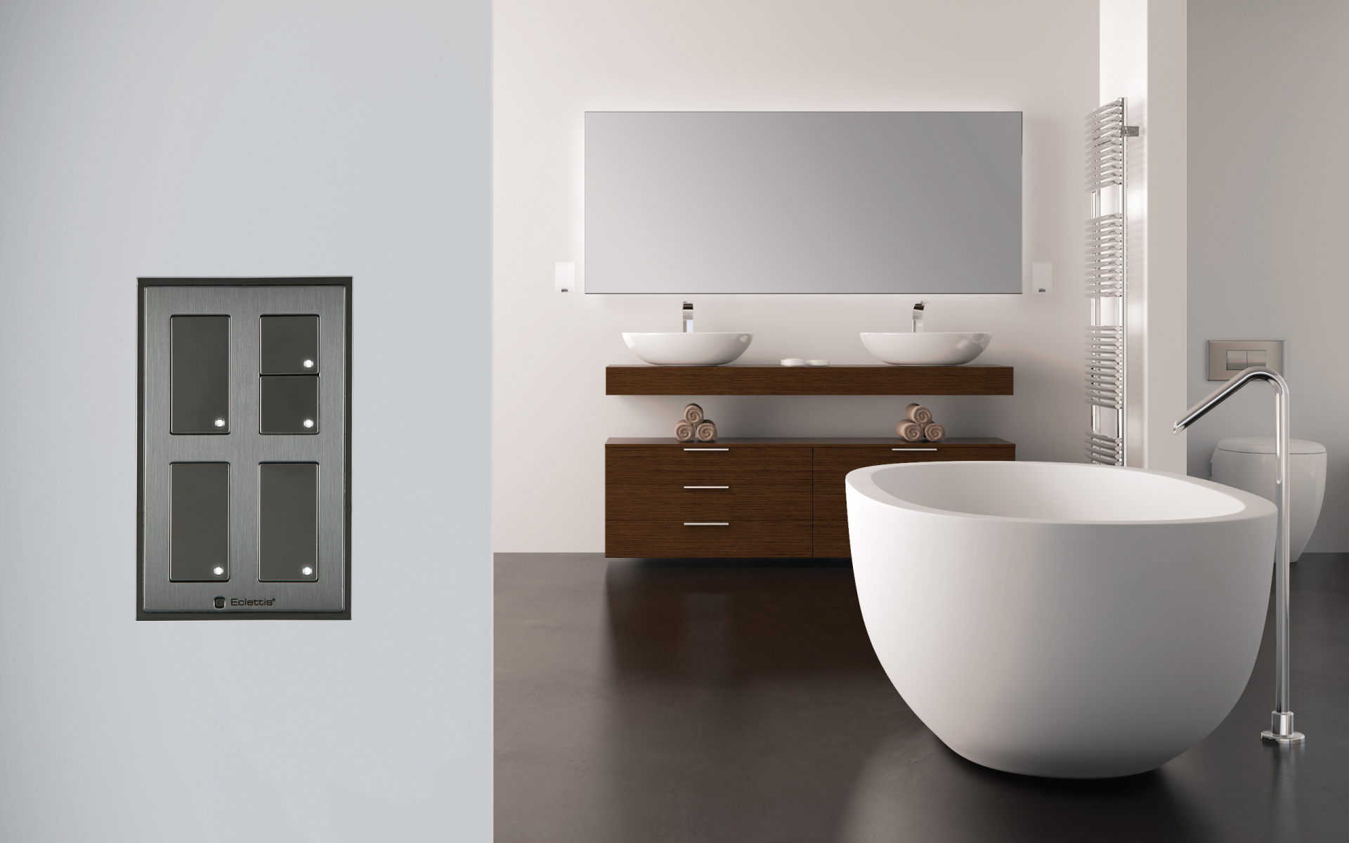 Smoothline-Flush-stainless-steel-switches-push-button-with-led